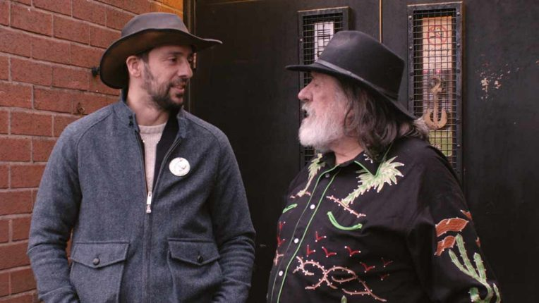 Ricky Tomlinson and Ralf Little in cowboy gear on Gold