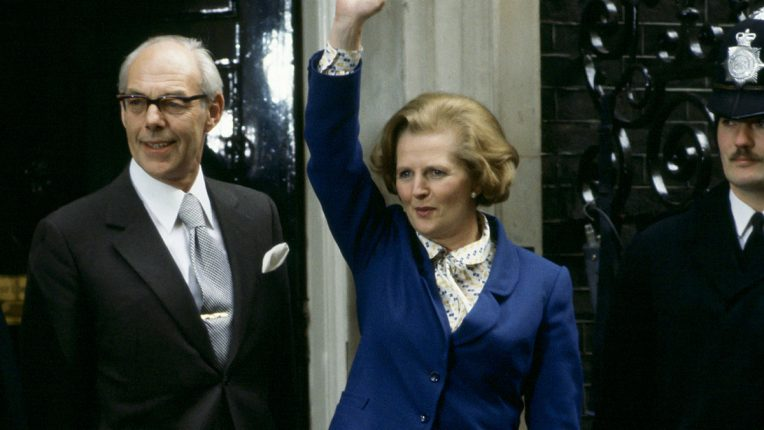 Denis and Margaret Thatcher outside No.10 Downing Street in May 1979