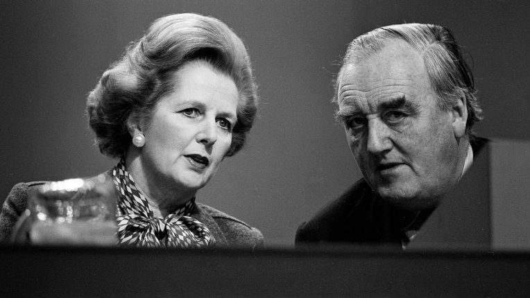 Prime Minister Margaret Thatcher and Home Secretary Willie Whitelaw in 1980