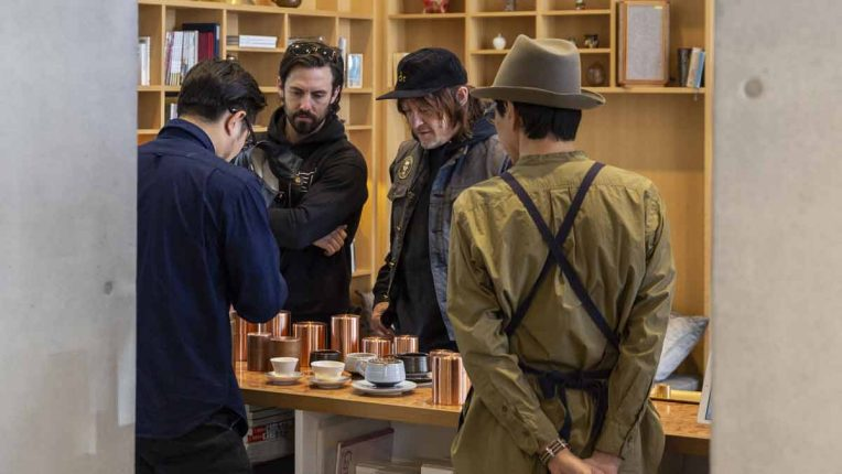 Westworld actor Clifton Collins Jr and Norman Reedus filming Ride with Norman Reedus season 4