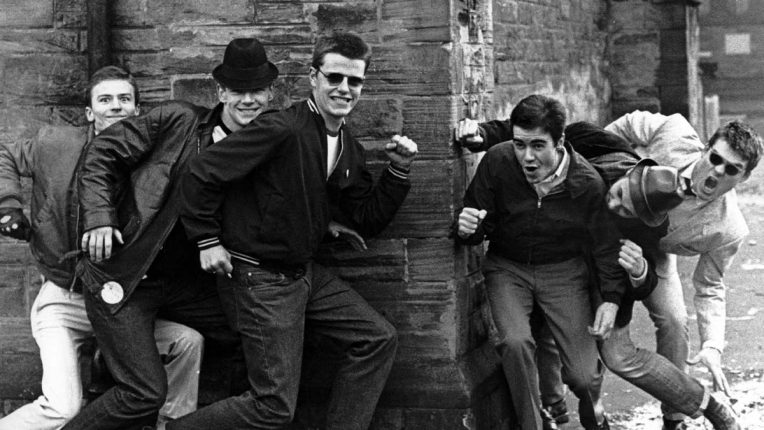 Madness larking about at the start of their career