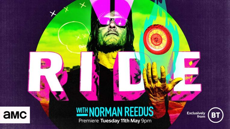Norman Reedus key art for season 5 of Ride on AMC and BT TV