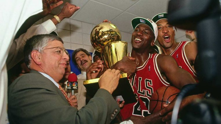Michael Jordan winning another NBA title with the Chicago Bulls