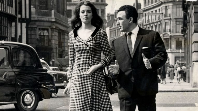 Christine Keeler with her lawyer