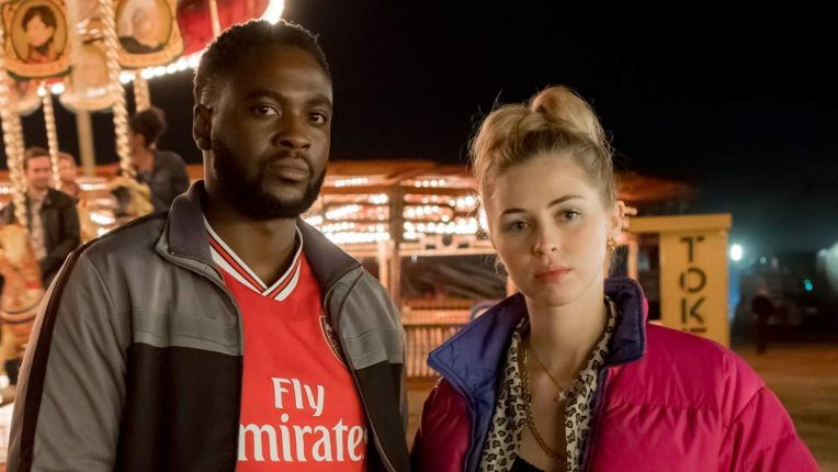 Dipo Ola and Hermione Corfield in We Hunt Together