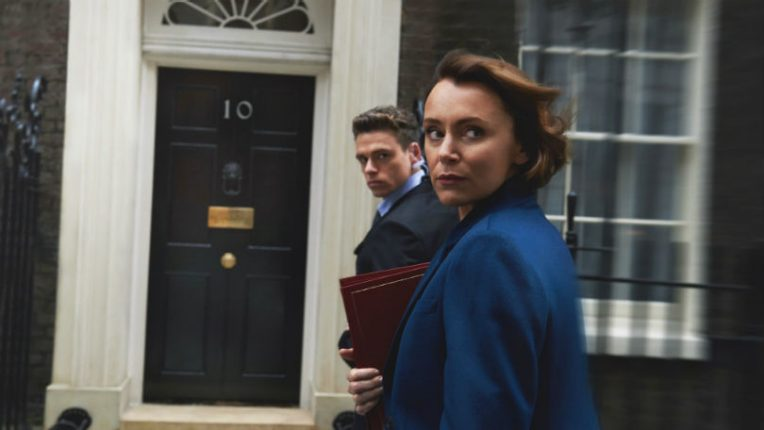 Bodyguard Richard Madden and Keeley Hawes as David and Julia