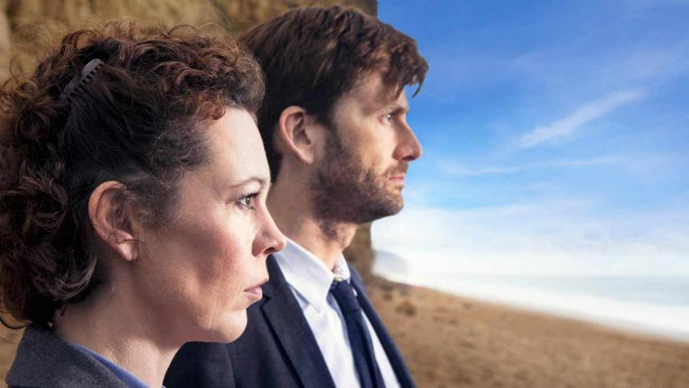 David Tennant and Olivia Colman in Broadchurch series 1