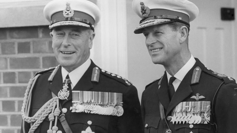 Lord Mountbatten and the Duke of Edinburgh