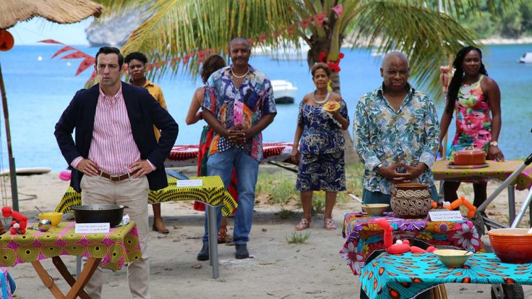 Ralf Little and Don Warrington in Death in Paradise