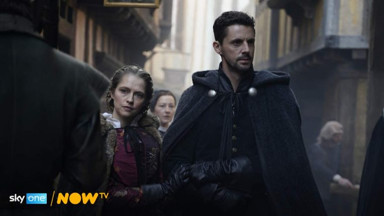 Matthew Goode and Teresa Palmer in A Discovery of Witches season 2