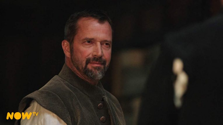 James Purefoy on the set of A Discovery of Witches season 2