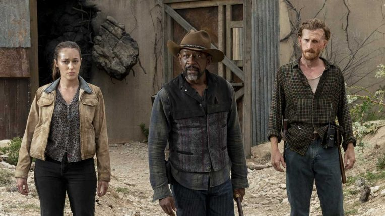 Lennie James and Alycia Debnam-Carey in action in Fear the Walking Dead