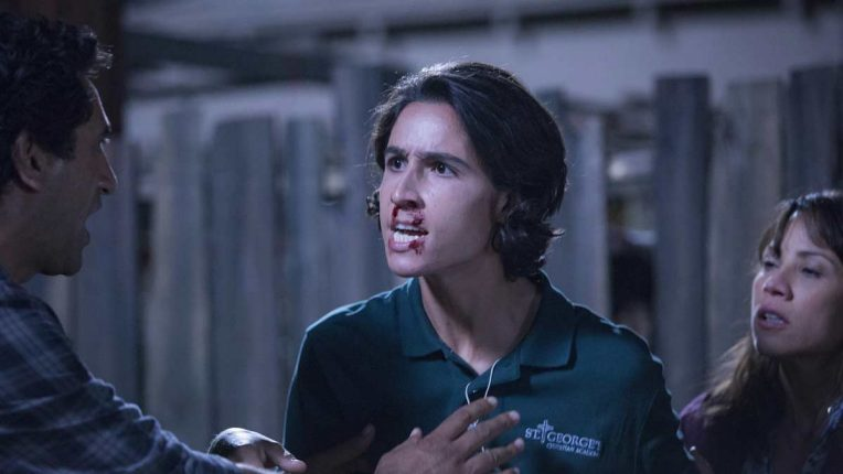 Lorenzo James Henrie playing Christopher Manawa in Fear the Walking Dead