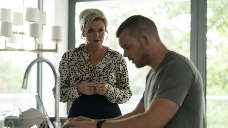 Sharon Small in a scene with Russell Tovey in Flesh and Blood