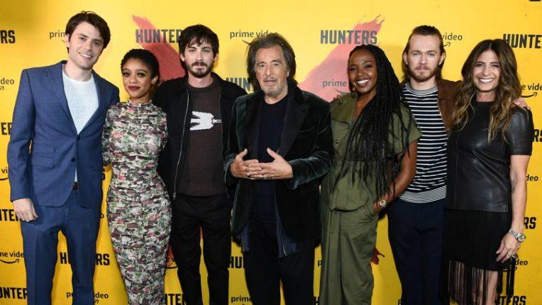 The cast and creators of Hunters at the UK premiere