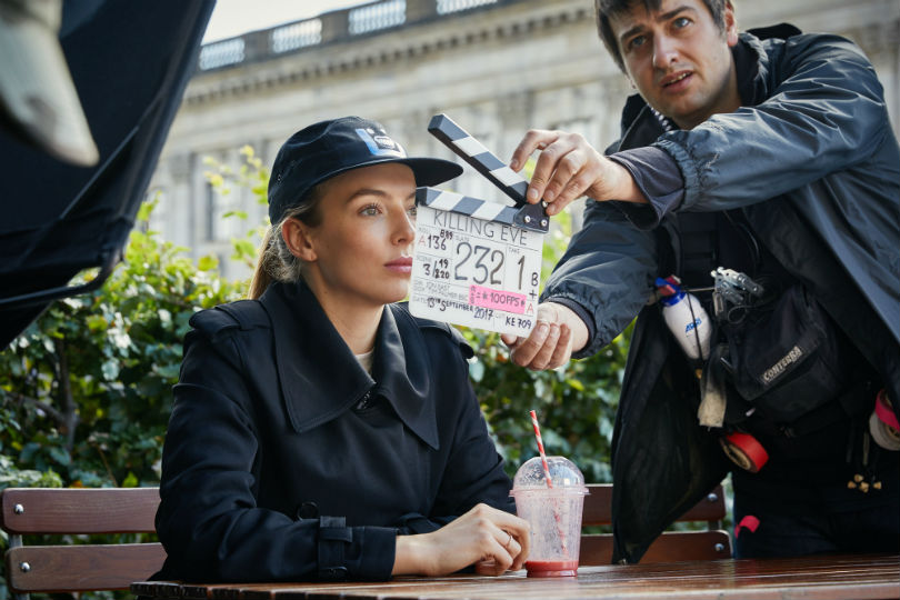 Killing Eve Jodie Comer filming