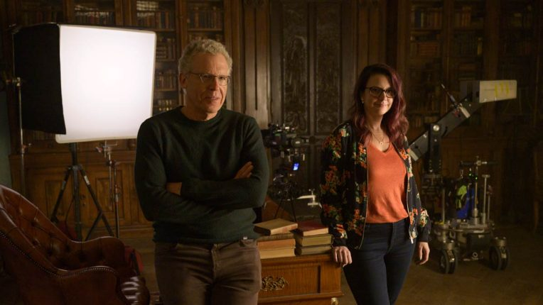 Carlton Cuse and Mereditch Averill, the creators of Netflix series Locke and Key, on set