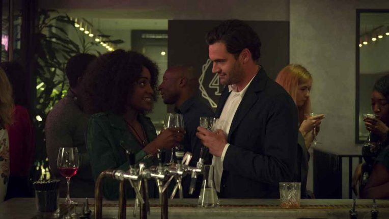 Simona Brown and Tom Bateman at the start of Behind Her Eyes in episode one