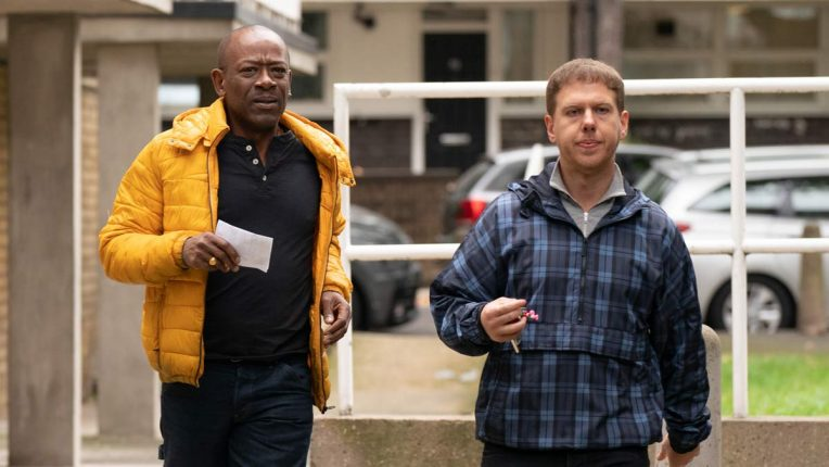 Lennie James and Thomas Coombes in Save Me