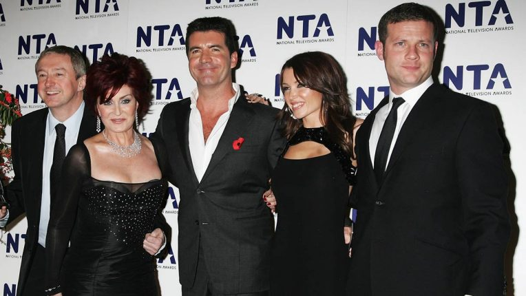 Sharon Osbourne and Dannii Minogue with the X Factor team