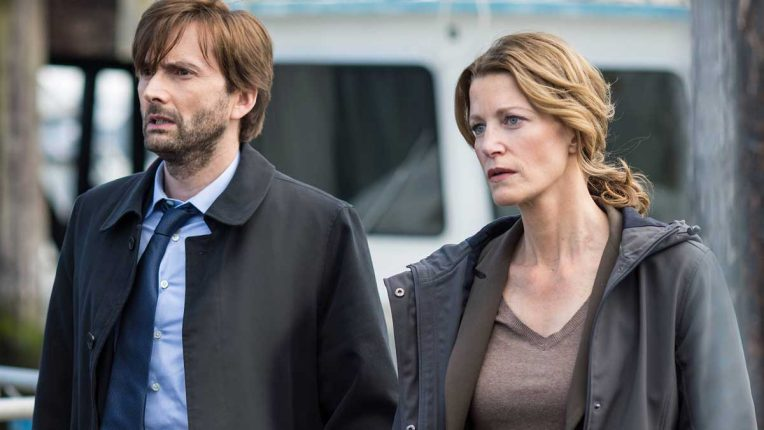 David Tennant and Anna Gun in Gracepoint