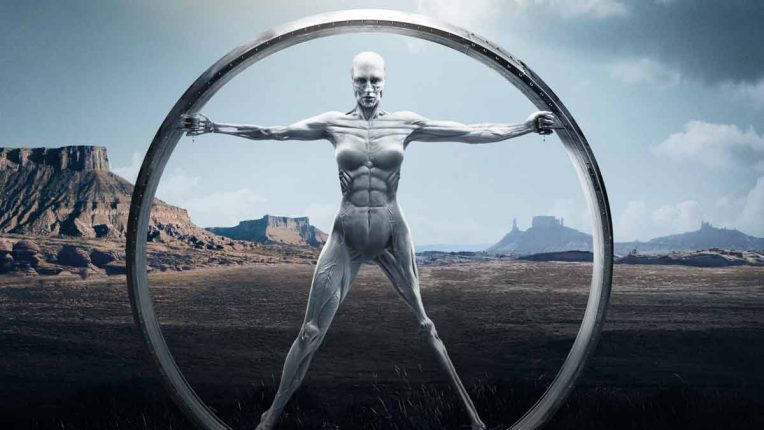 A host in its wheel in Westworld