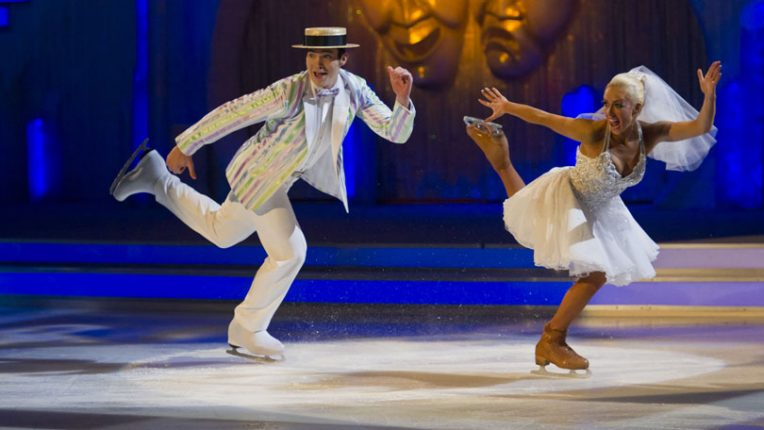 Dancing on Ice Brianne Delcourt and Sam Attwater