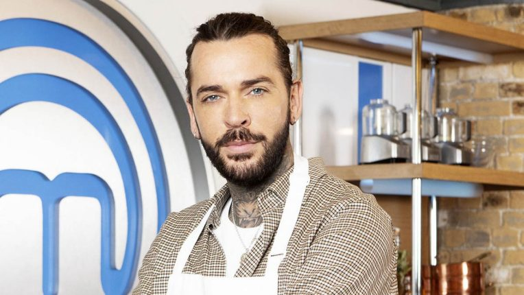 Pete Wicks in the Celebrity MasterChef Kitchen