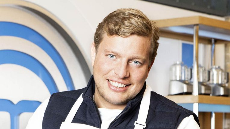 Thomas Skinner in the Celebrity MasterChef Kitchen