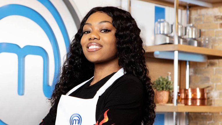 Lady Leshurr in the Celebrity MasterChef Kitchen