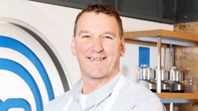 Matthew Pinsent in the Celebrity MasterChef Kitchen
