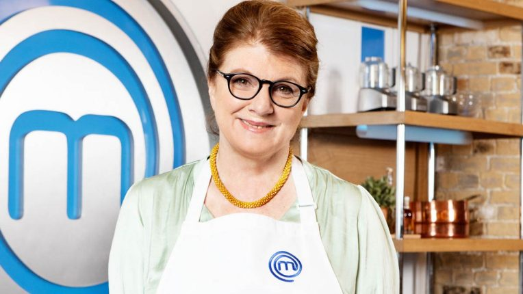 Felicity Montagu in the Celebrity MasterChef Kitchen