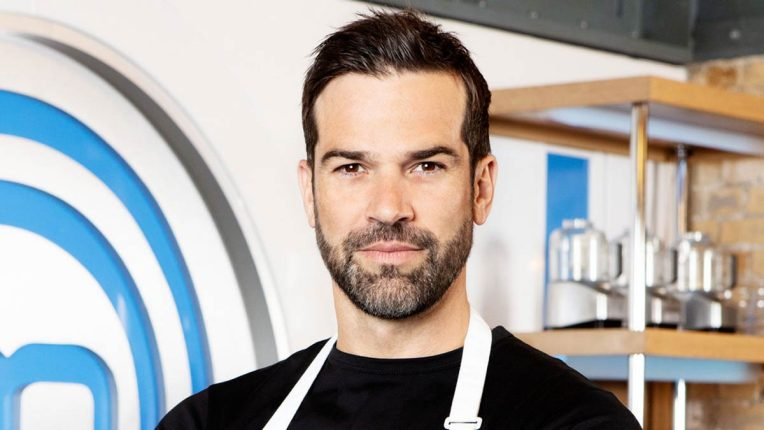 Gethin Jones in the Celebrity MasterChef Kitchen