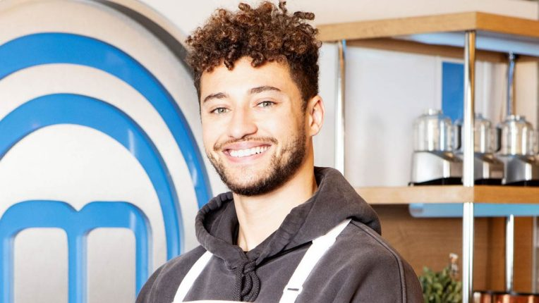 Myles Stephenson the Celebrity MasterChef Kitchen