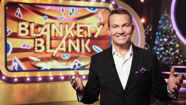 Bradley Walsh with a new look Blankety Blank
