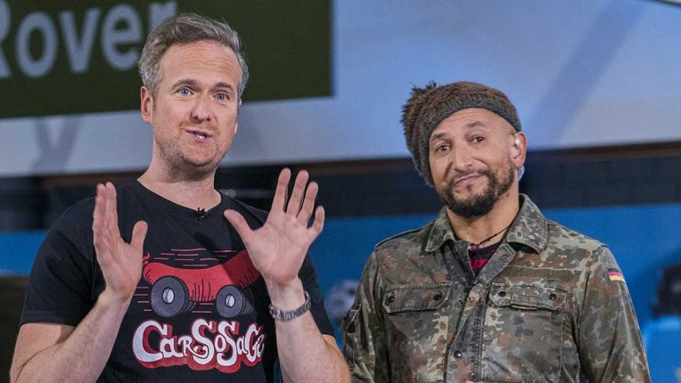 Car SOS presenters Tim Shaw and Fuzz Townshend