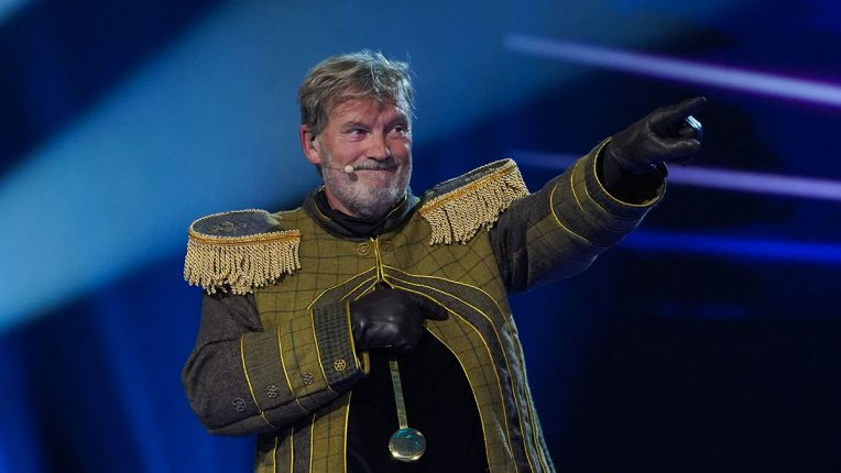 Glenn Hoddle as the Grandfather Clock in The Masked Singer