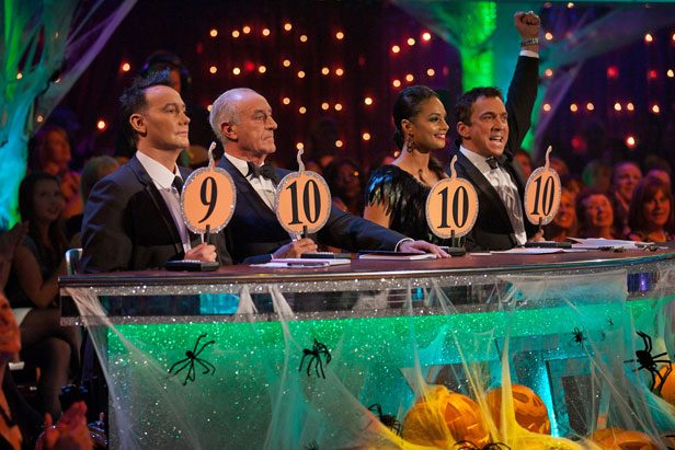 Strictly judge panel with Alesha Dixon