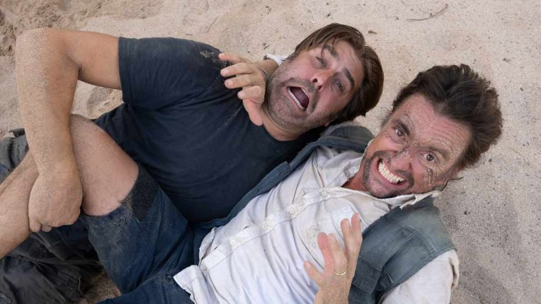 Richard Hammond and Tory Belleci filming The Great Escapists