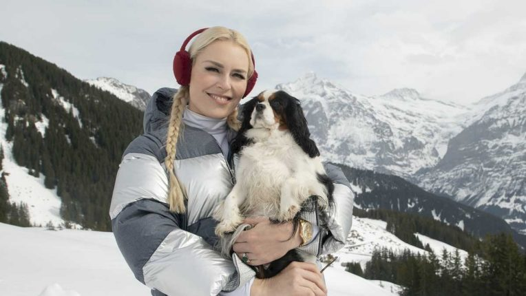 Lindsey Vonn and her dog Lucy in The Pack