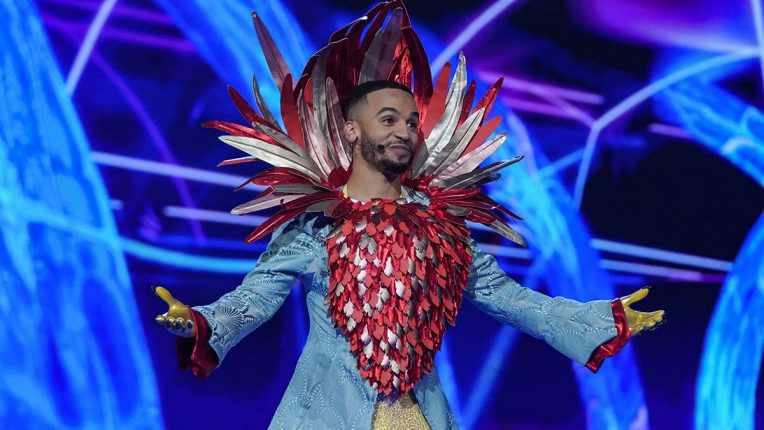 Aston Merrygold as Robin in The Masked Singer