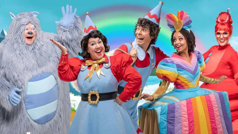 The cast of CBeebies Christmas in Storyland