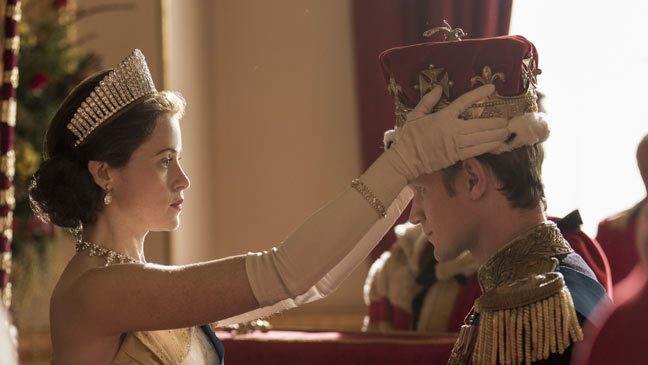 Claire Foy as Queen Elizabeth II in The Crown