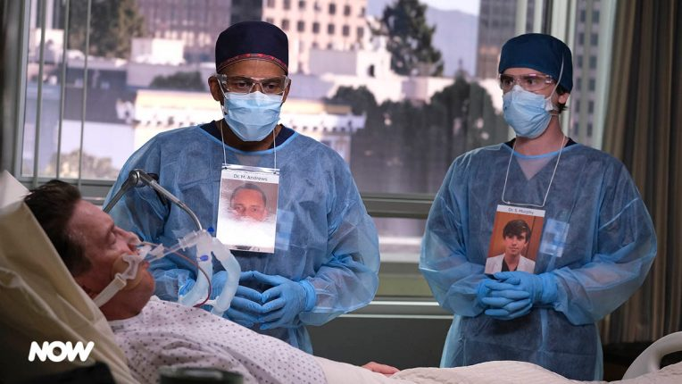 Hill Harper and Freddie Highmore in The Good Doctor