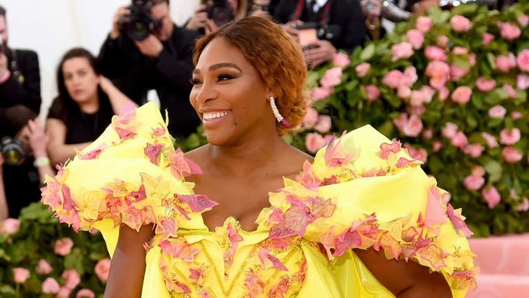 Serena Williams on the red carpet in 2019