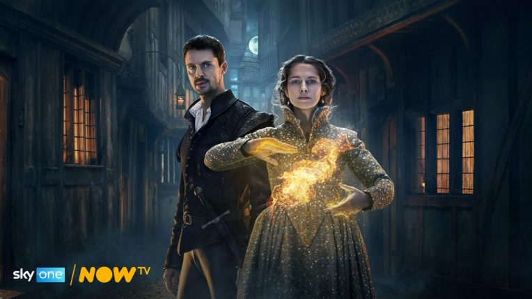 A Discovery of Witches season 2 key art - Matthew Goode and Teresa Palmer in costume