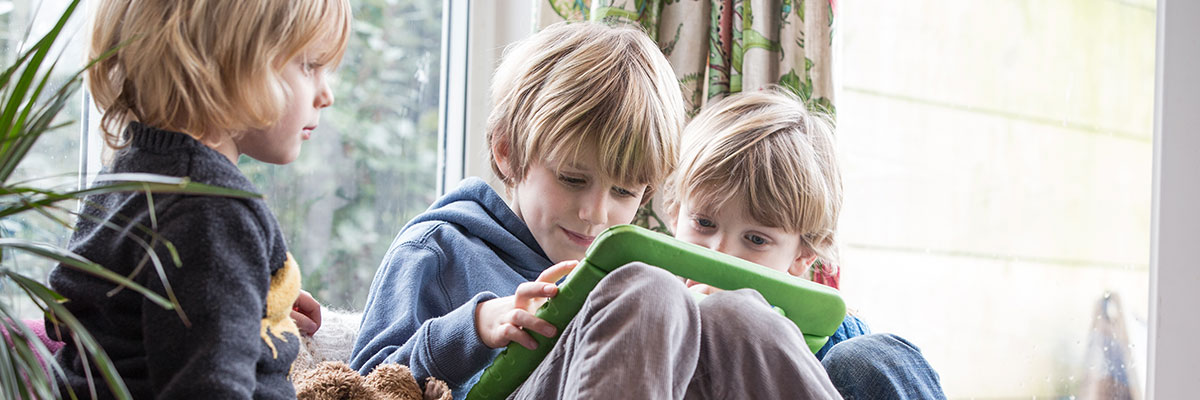 BT Parental Control - Children playing on tablet