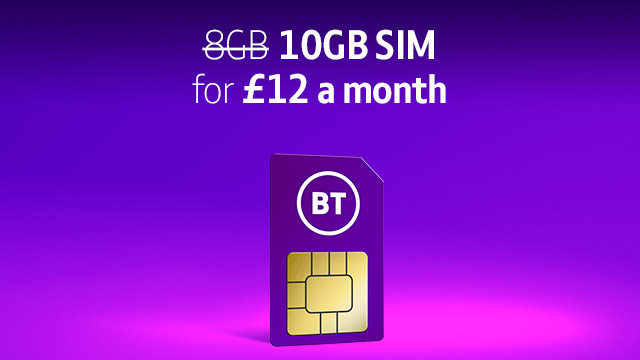 10GB for £12 a month SIM Only deals